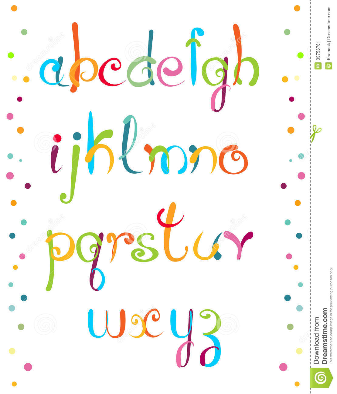 Alphabet for your design - colorful and funny, letters from my sketch ...
