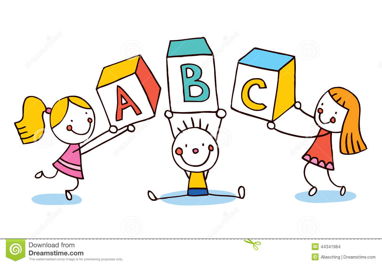 ABC letters kids education stock vector. Illustration of ...