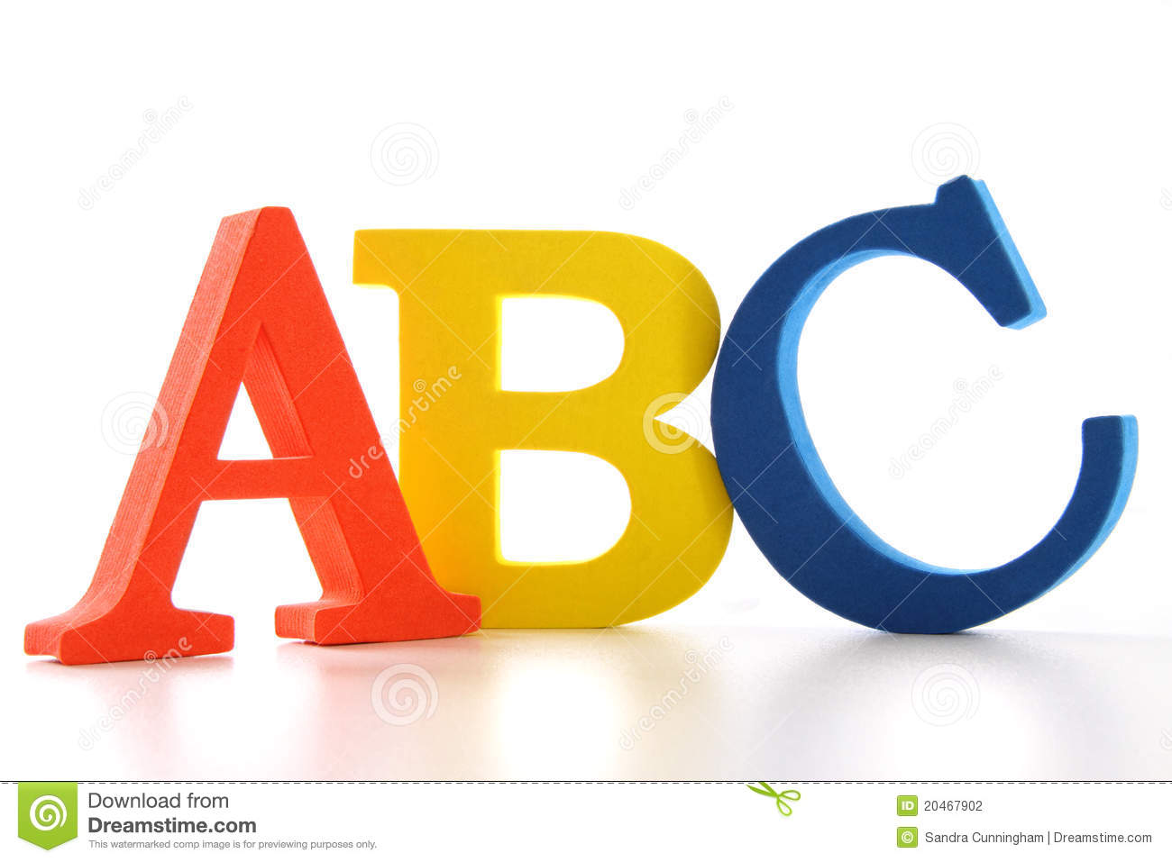 abc letters on white
