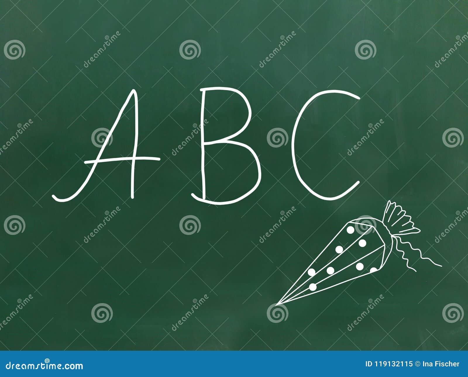 ABC - Listy na chalkboard