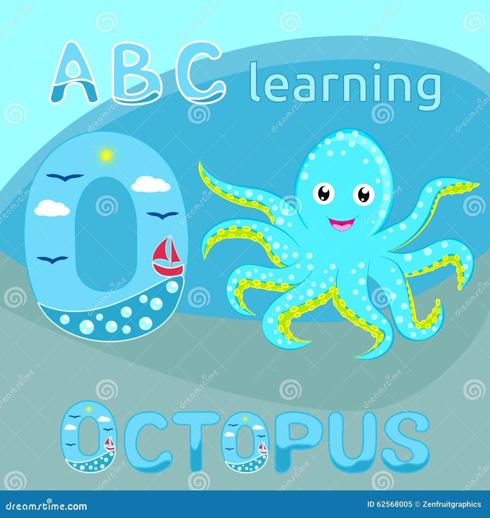 逗人传染的大象婴孩喜爱蓝色深蓝动物被察觉的漫画例证侦探人物的媒介C海洋的章鱼图片