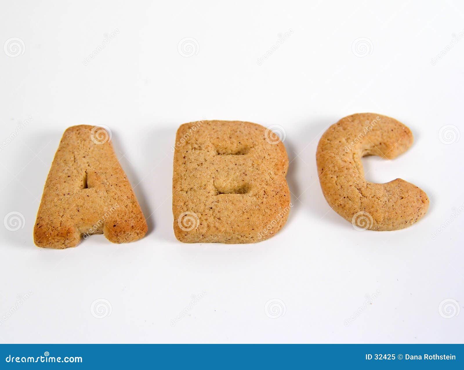 Download ABC-Plätzchen stockbild. Bild von kuchen, gebäck, spritzt - 32425