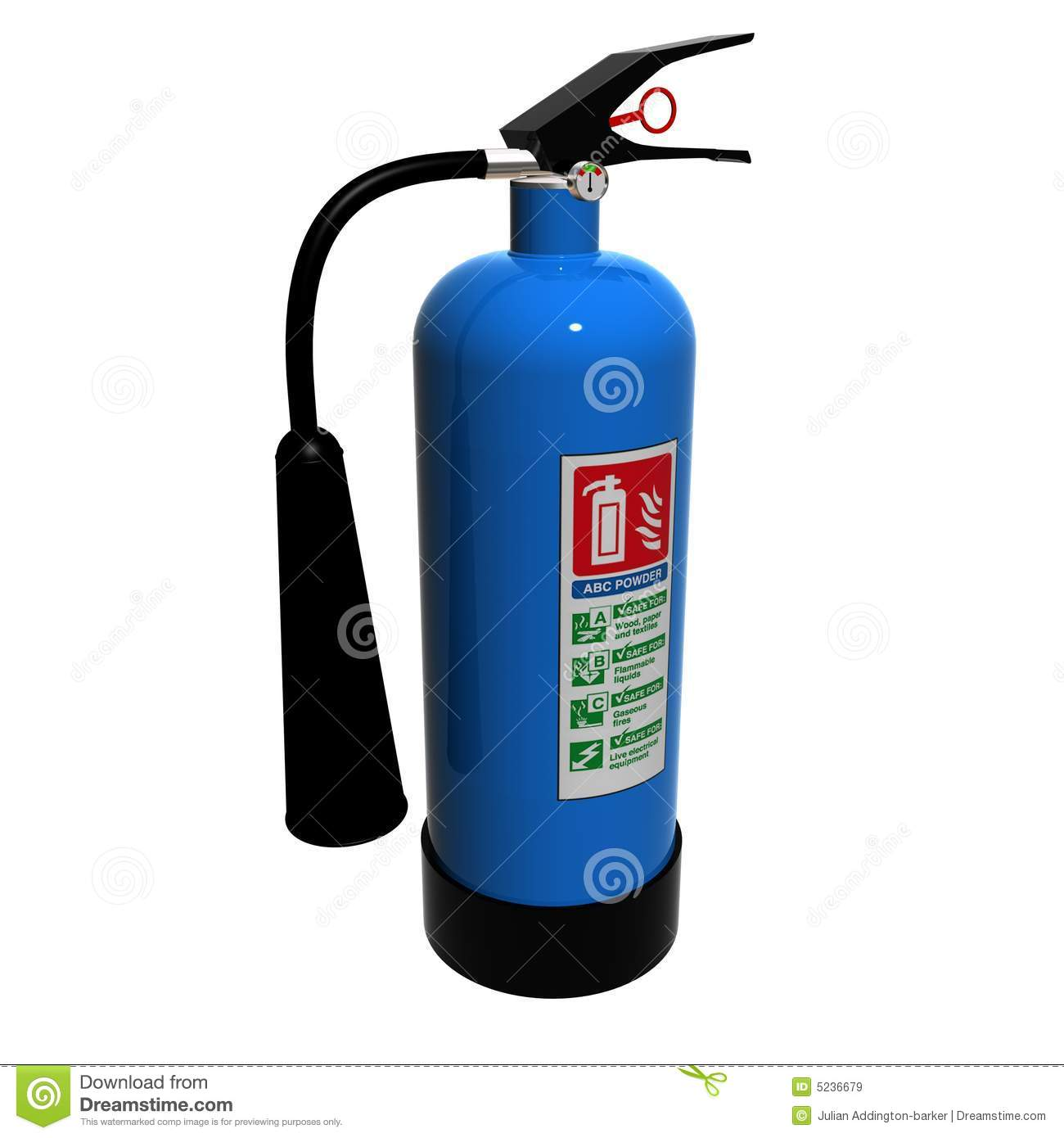 Abc Powder Fire Extinguisher Royalty Free Stock Images