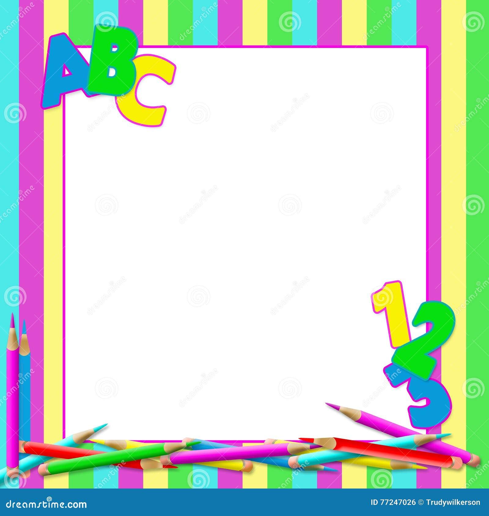 abc school bright background stock illustration
