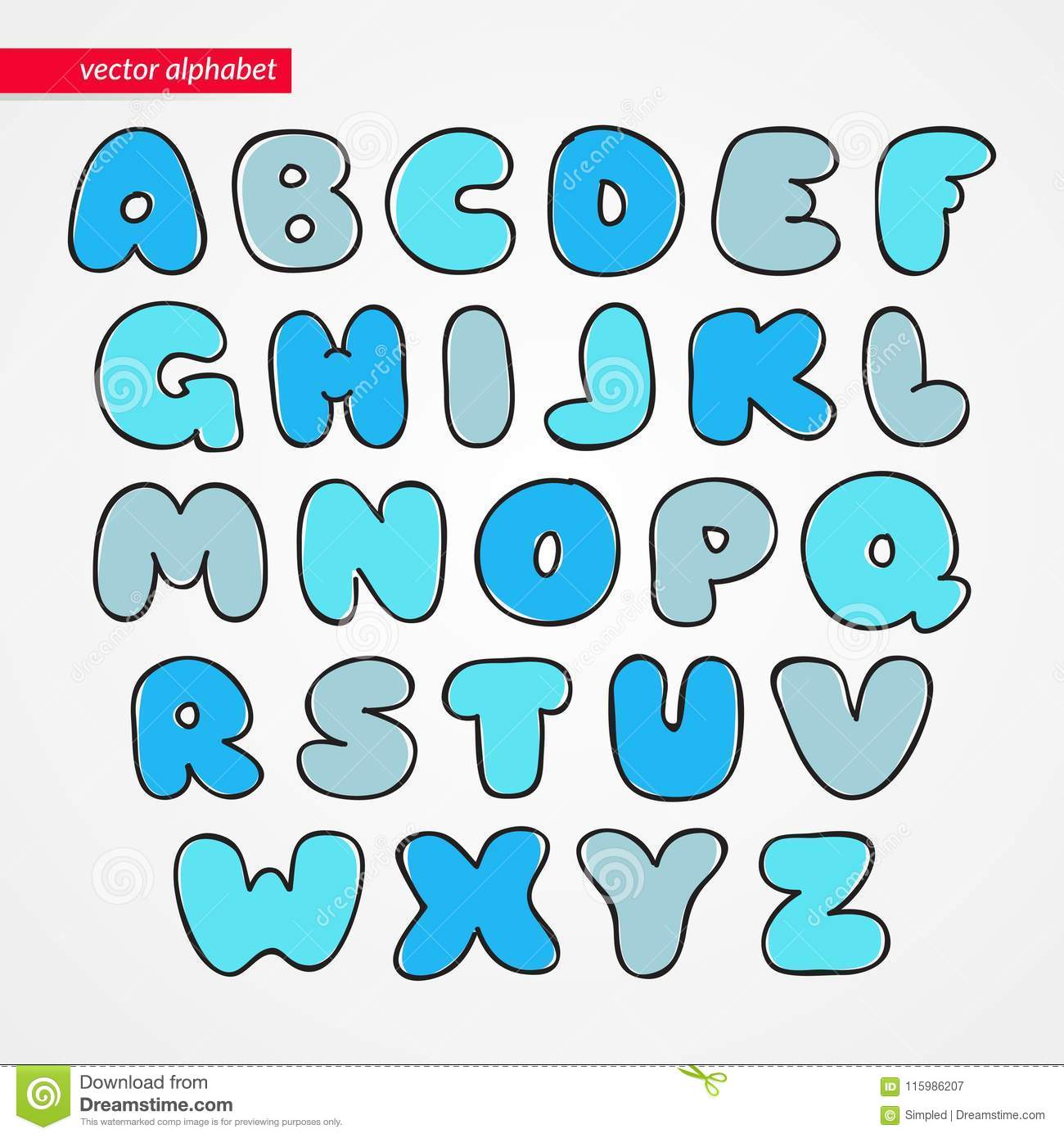 Abc Sketch Latin Font Decorative Funny Isolated Letter Icons For