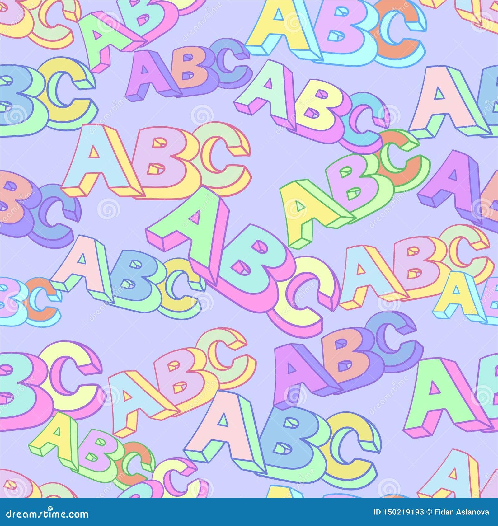 Abc symbolu wektoru wzór Dzieciak nauki tło