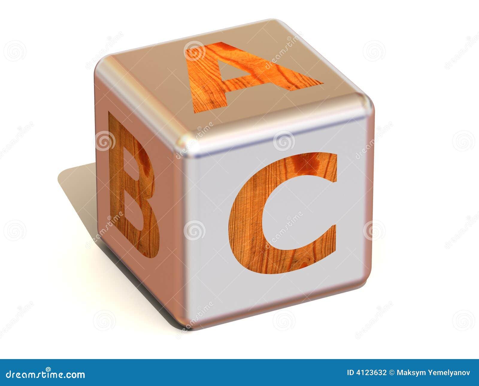 Abc sześcian alfabet