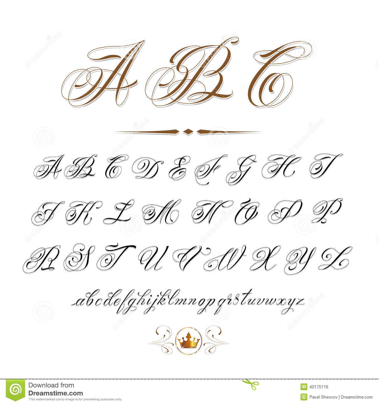 vector hand drawn calligraphic - photo #6