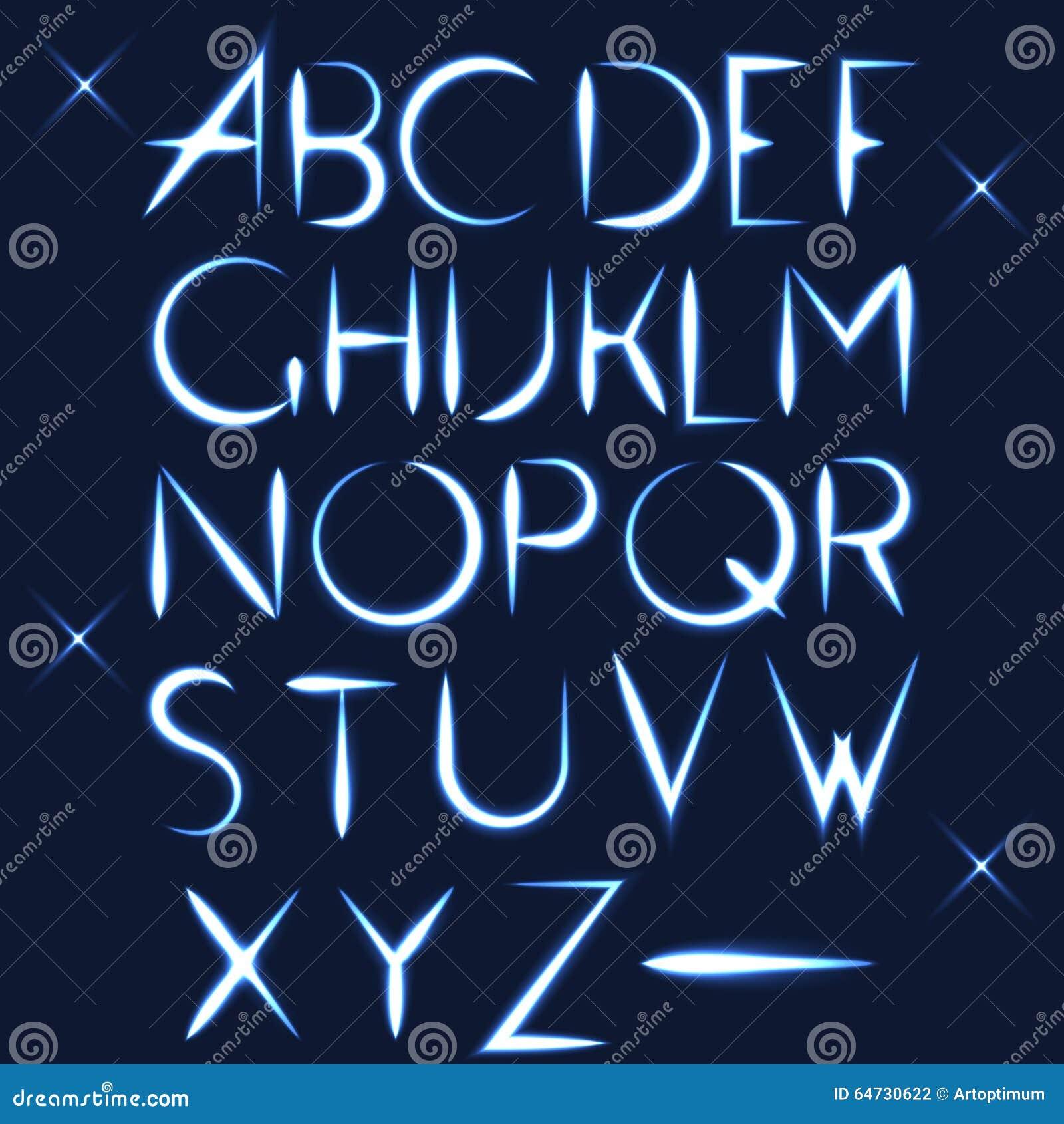 ABC vector la progettazione di lettera leggera della fonte