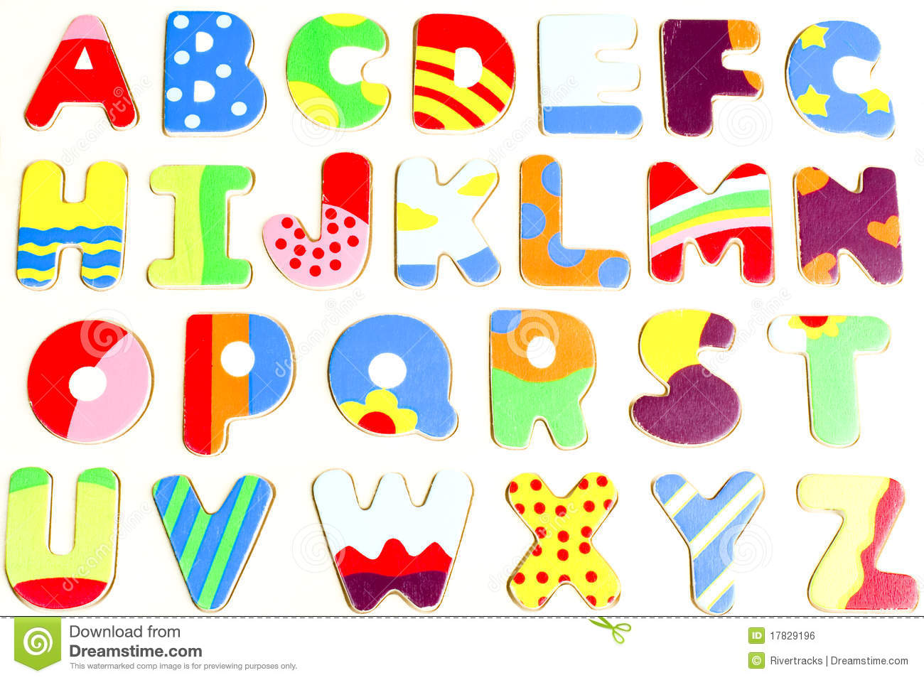 Colorful Wall Stickers Abc Wooden Alphabet Puzzle Board Stock Photo Image 17829196