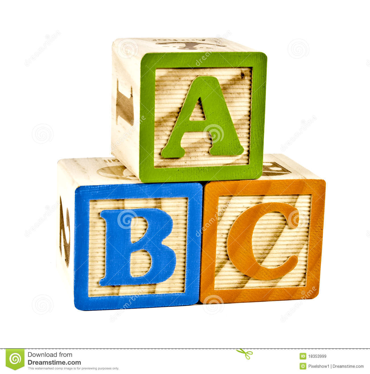 ABC In Wooden Block Letters Royalty Free Stock Images - Image ...