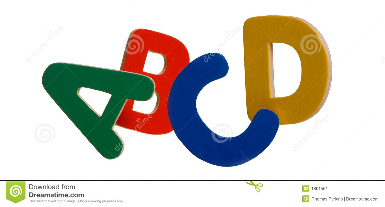 Abcd Stock Image Image Of Educate Green Yellow Letters