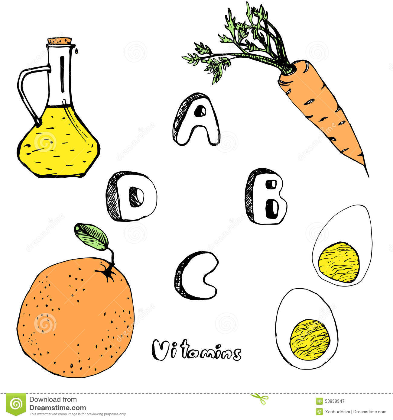 abcd vitamins from foods stock photo image 53838347