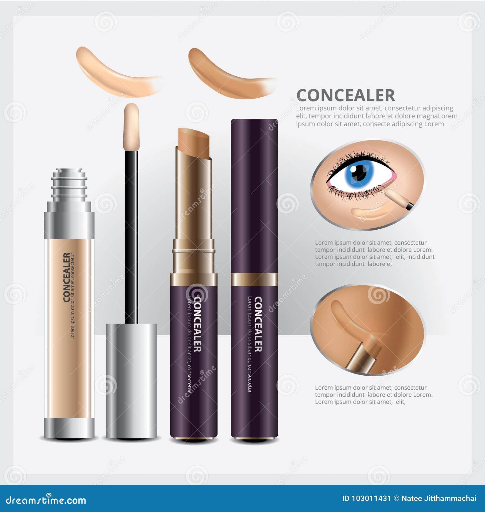 Abdeckstift-kosmetisches Paket mit Gesichts-Make-up