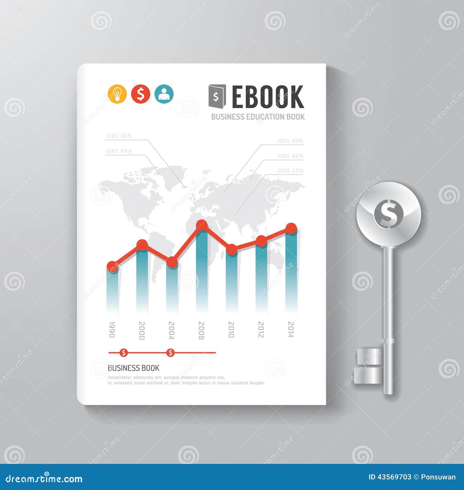 Abdeckungs-Buch-Digital-Design-Schablonen-Schlüssel des Geschäfts-Konzeptes