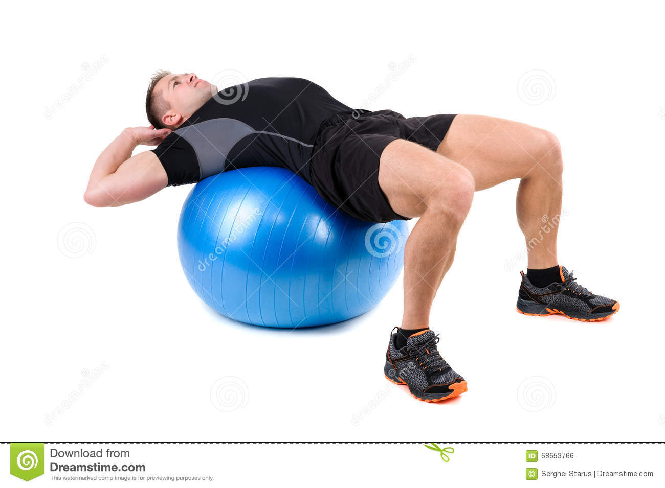 Abdominal Fitball Exercises Stock Photo