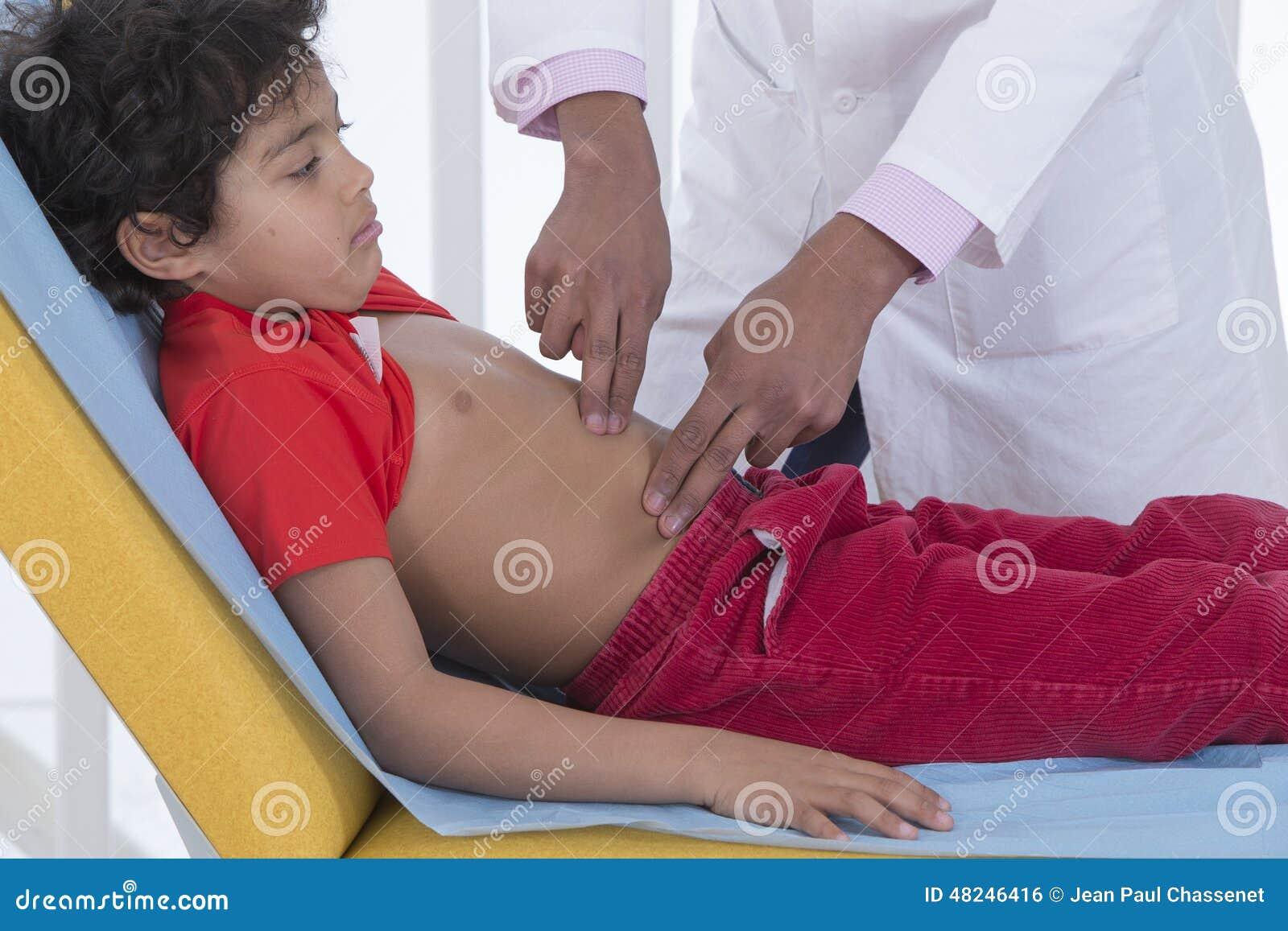 Abdominal Pain Child Stock Photo Image Of Doctor Pediatric
