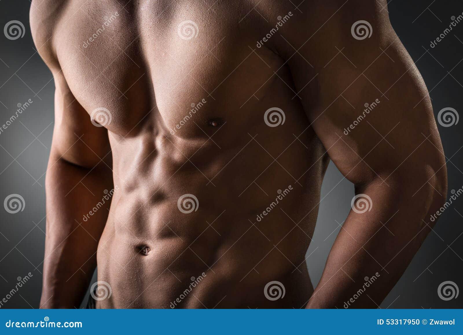 Abdominal- und Brustmuskel stockfoto. Bild von männlich - 53317950