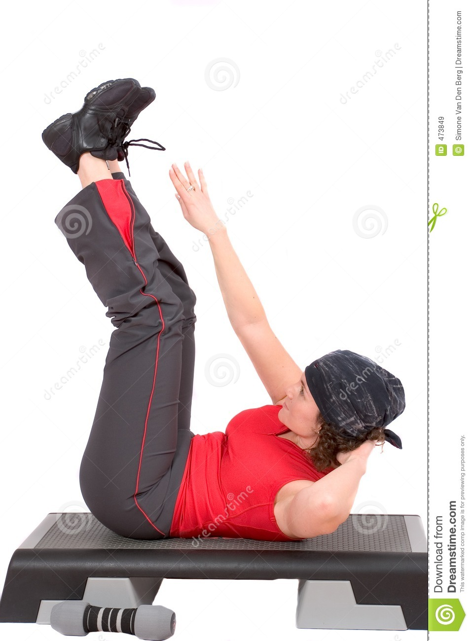 Download Abdominals stock image. Image of female, trainer, stretching - 473849