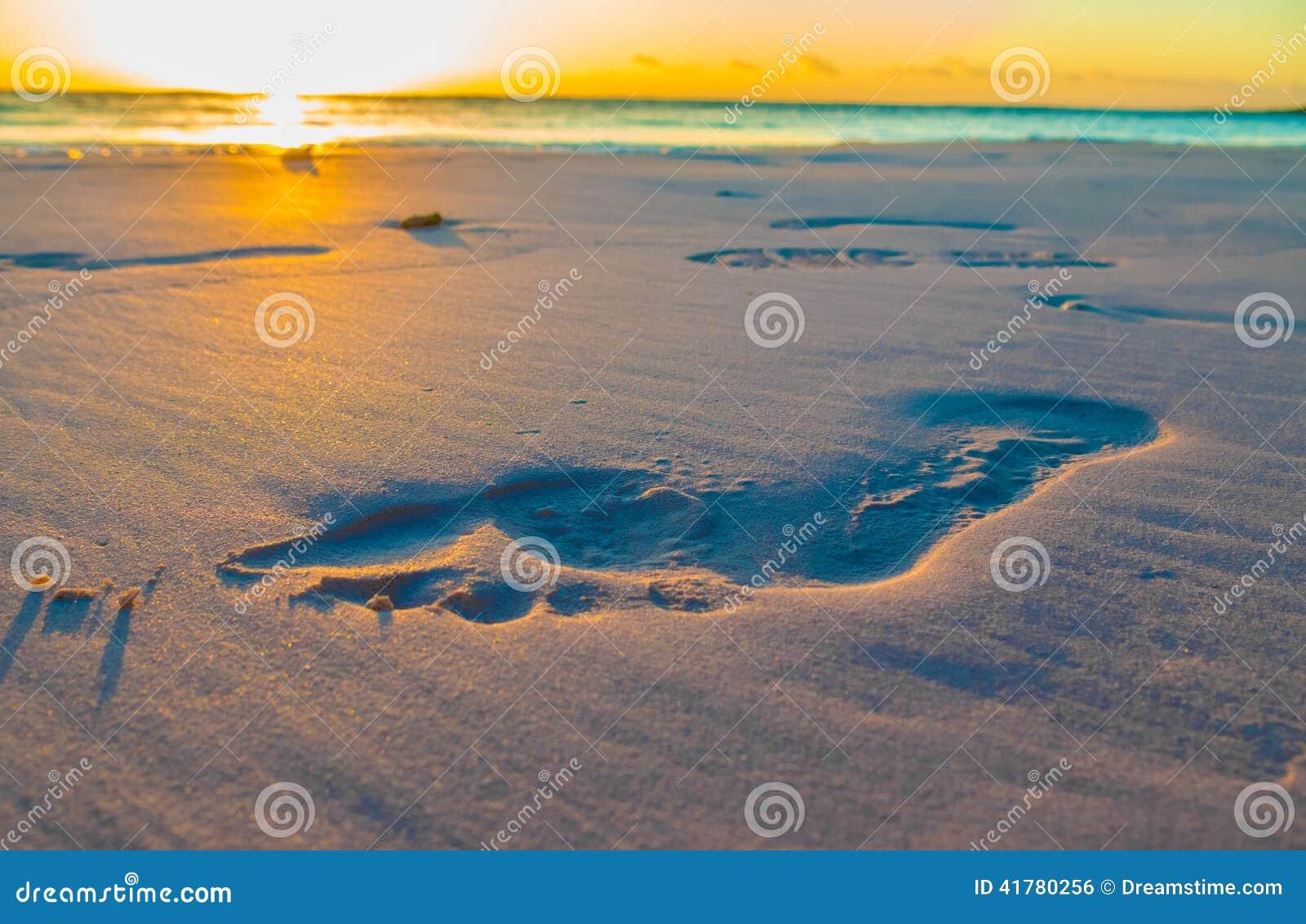 Abdruck auf Sand