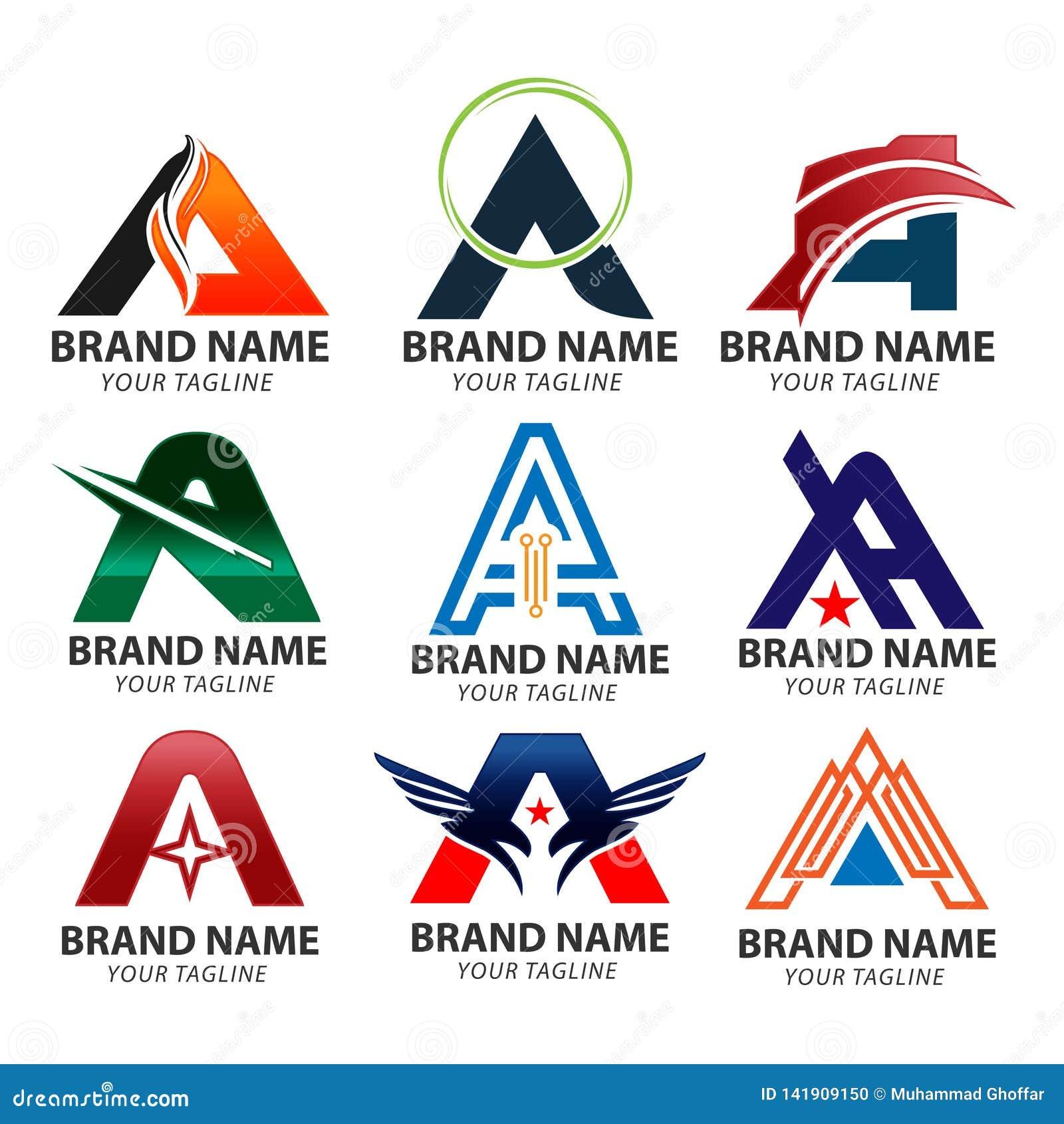 Abecadłowy logo projekta pojęć A listu logo wektor, A logo listowego projekta wektorowy ilustracyjny szablon