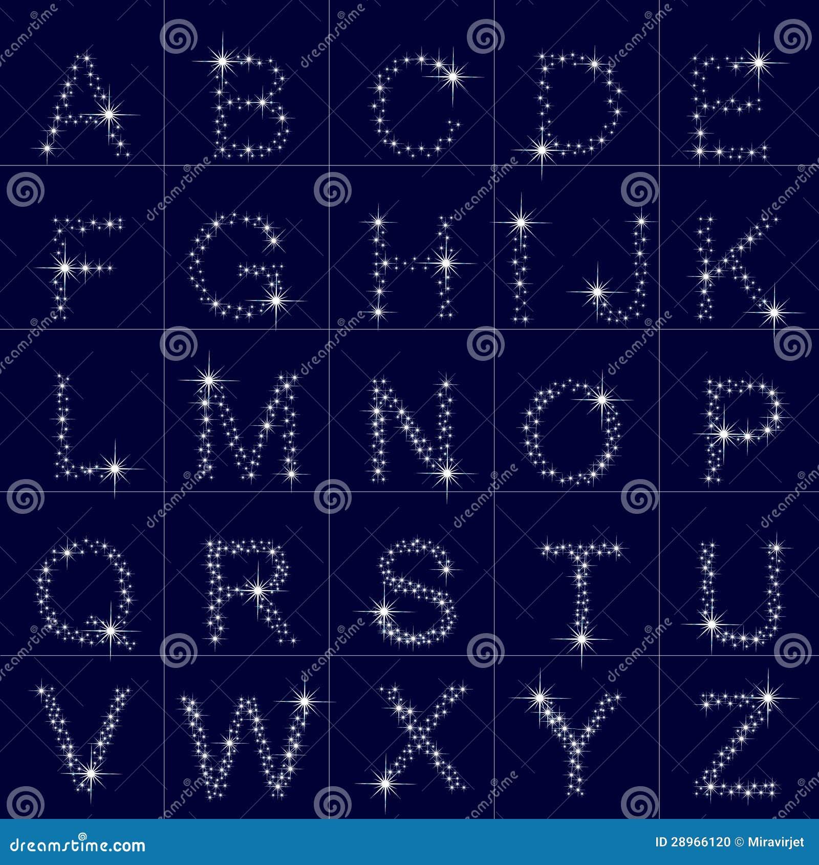 Abecadło gwiazdy, list