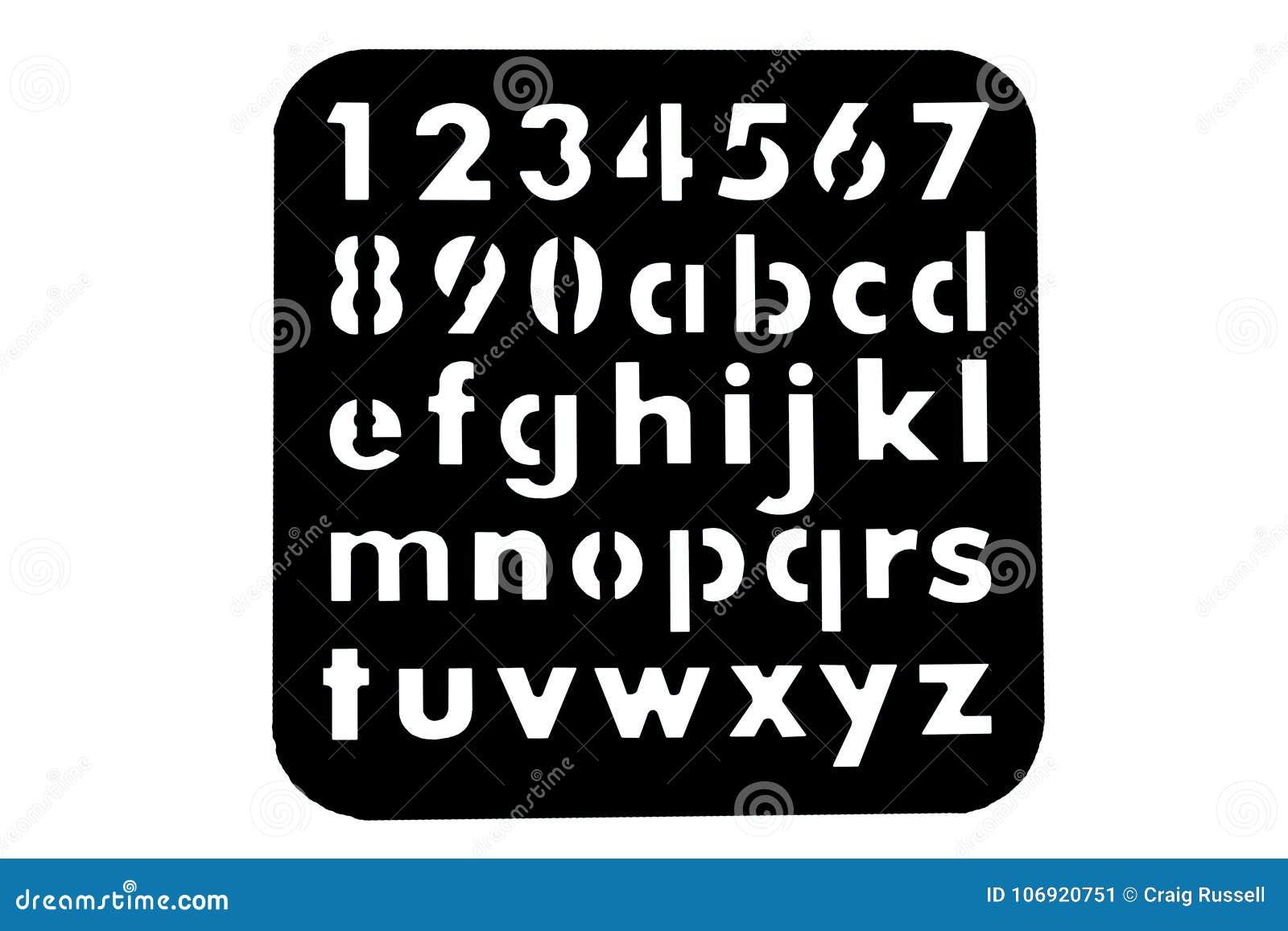 Abecadło i liczby matrycujemy kształty