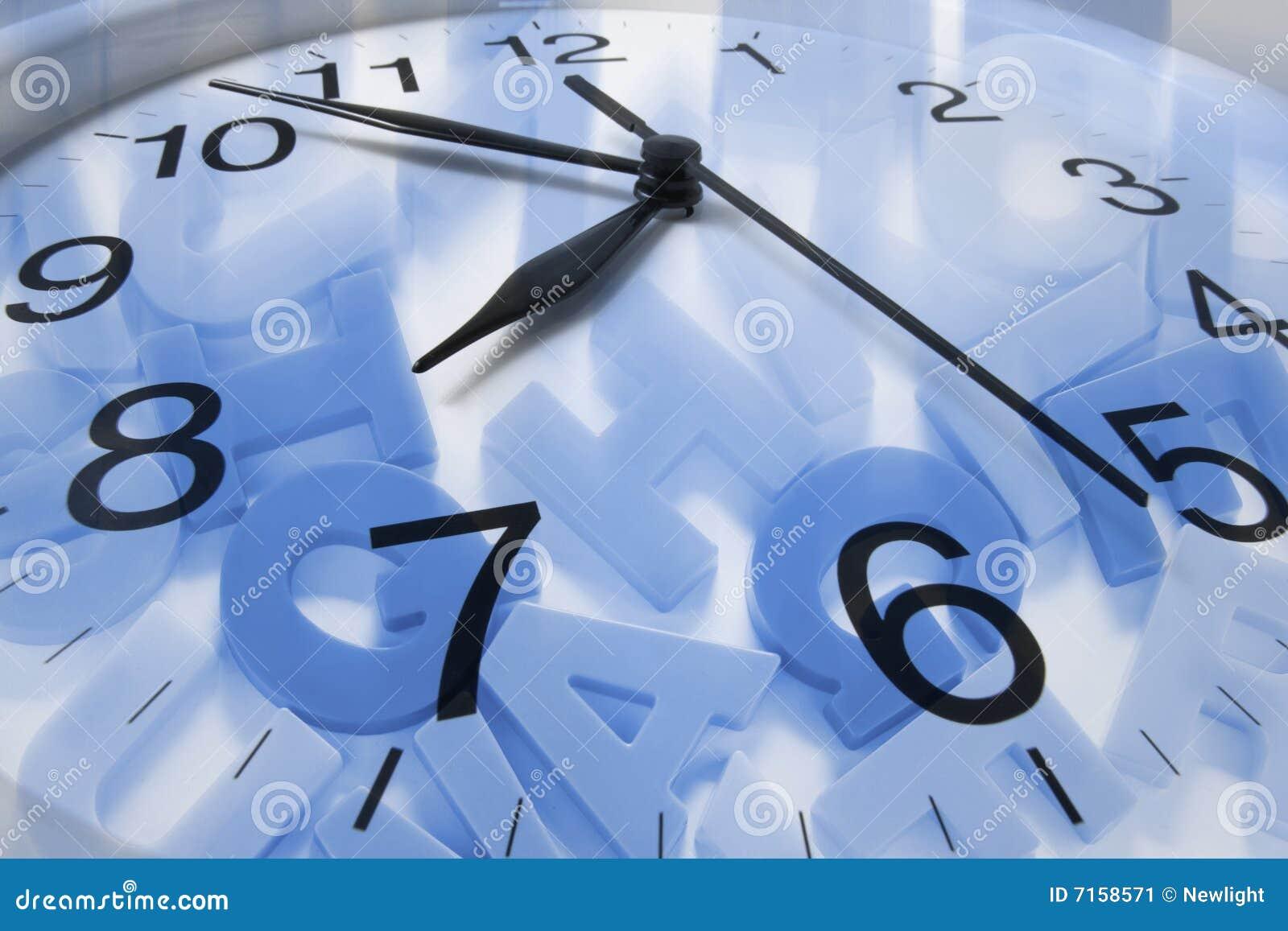 Abecadło zegar