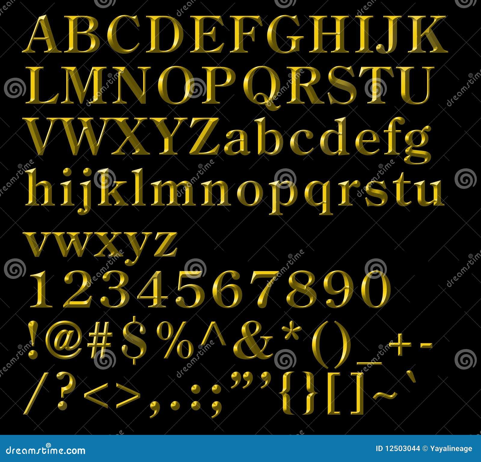 Abecadłowy brąz pisze list liczba symbole