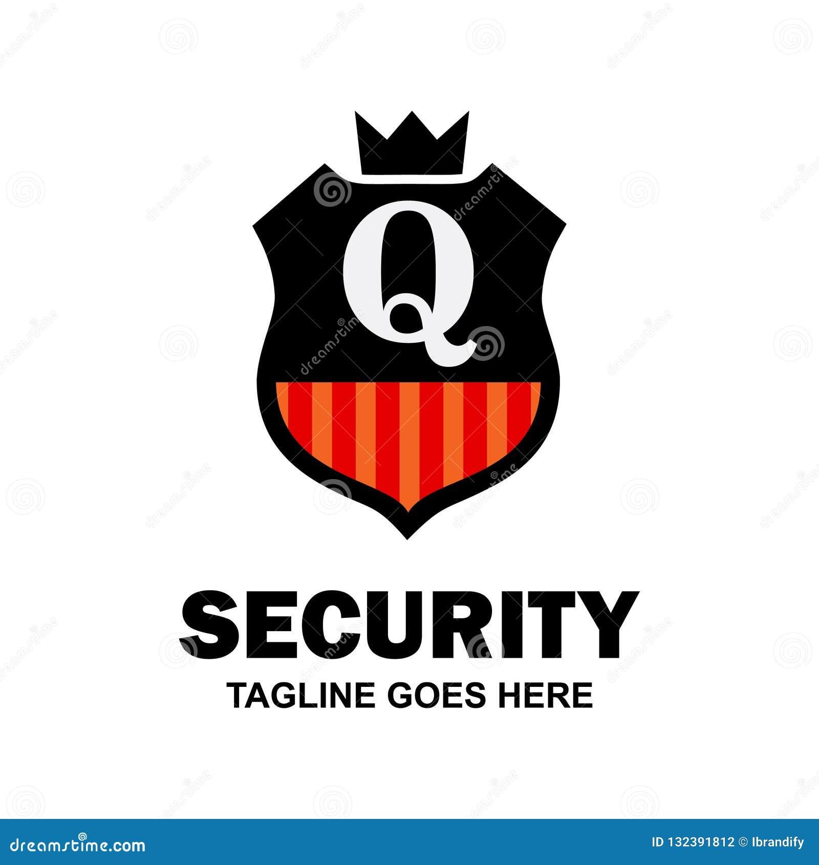 Abecadłowy logo firmy ochroniarska i typografii wektor