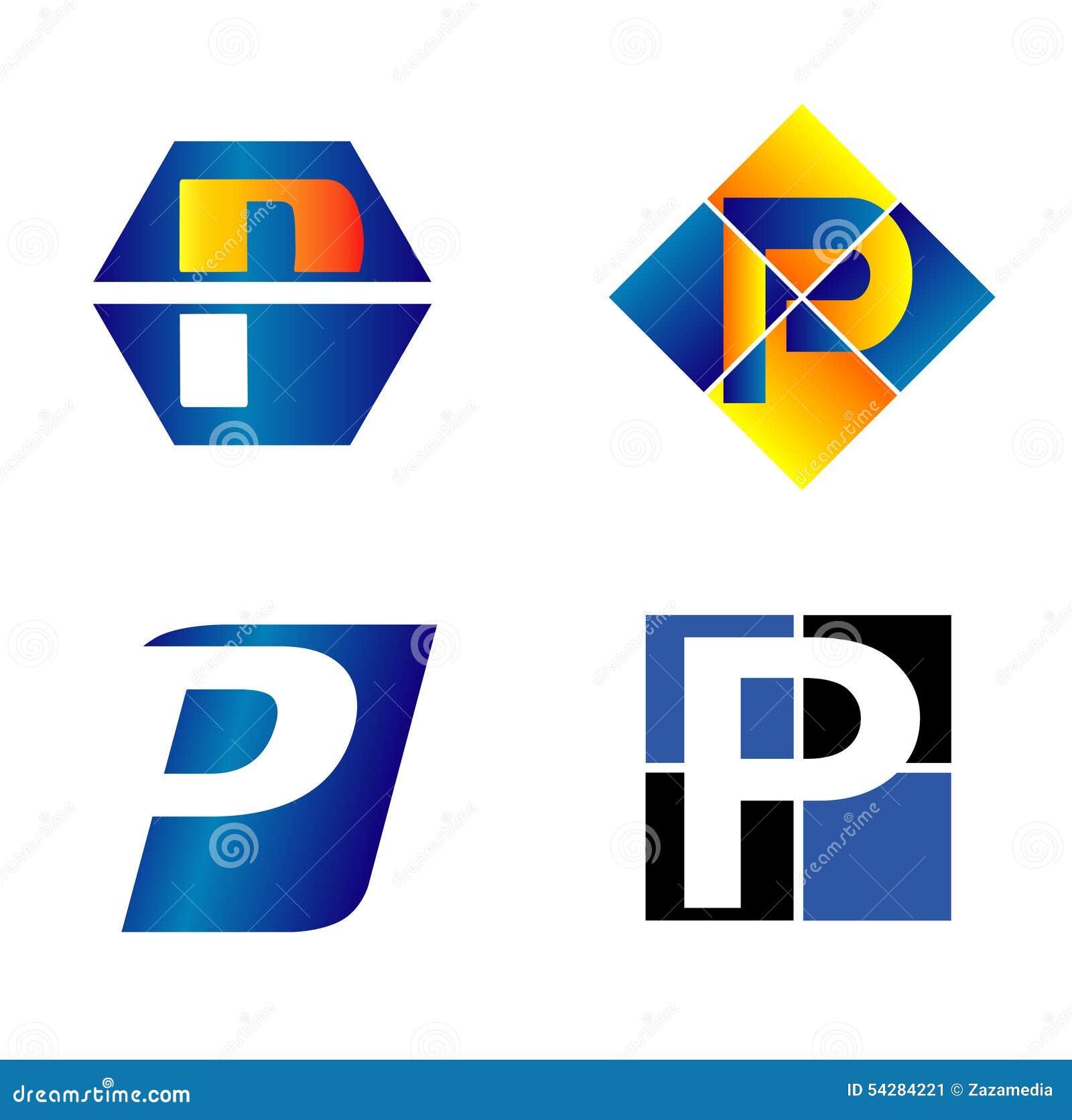 Abecadłowy pojęć projekta listu logo litera p
