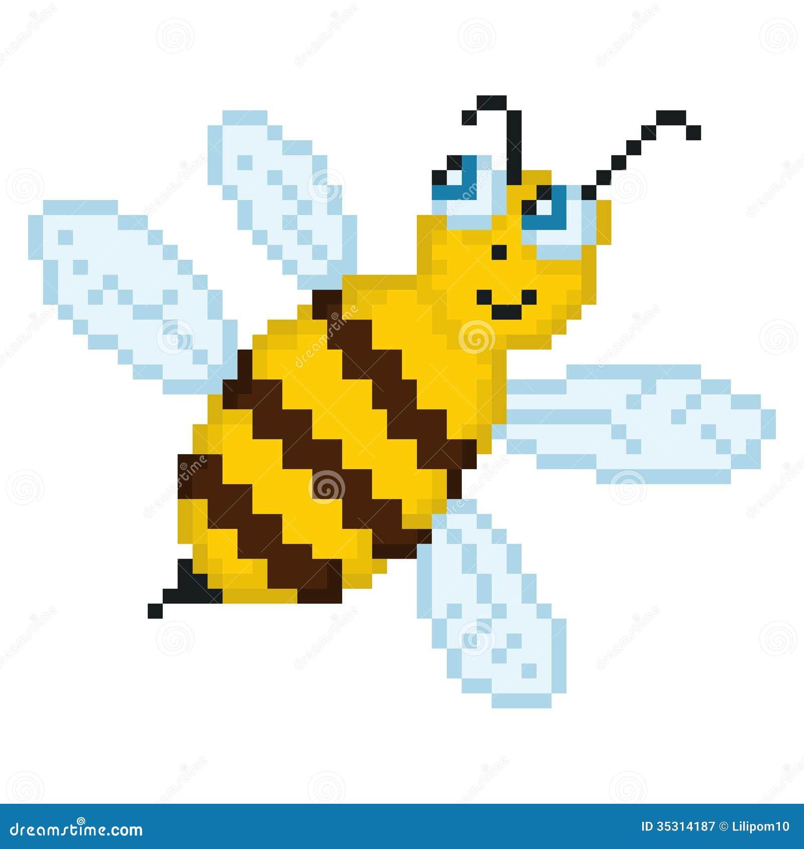 pixel art insecte
