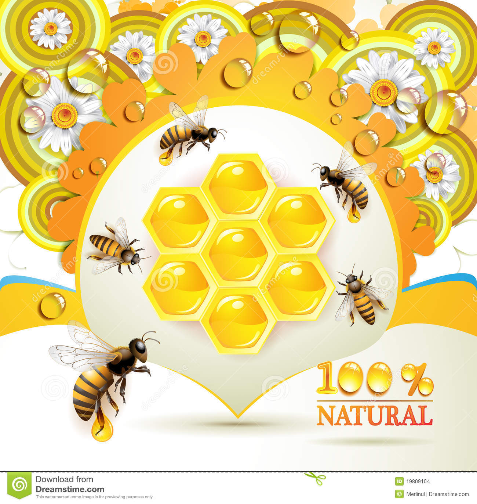 Ruche d abeille de dessin anim photos stock inscription - Dessin de ruche d abeille ...