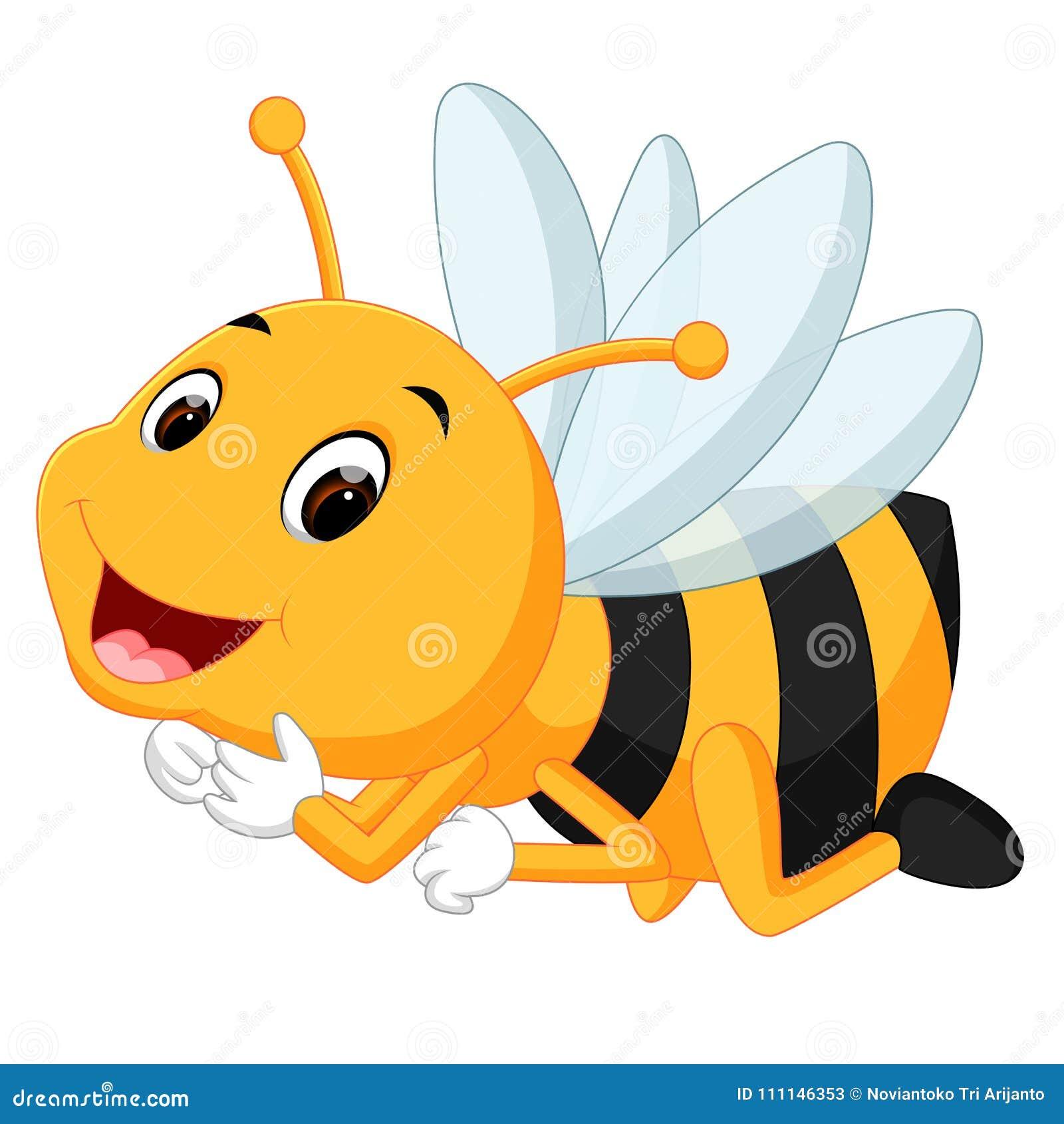 Abeja de la miel en un fondo blanco