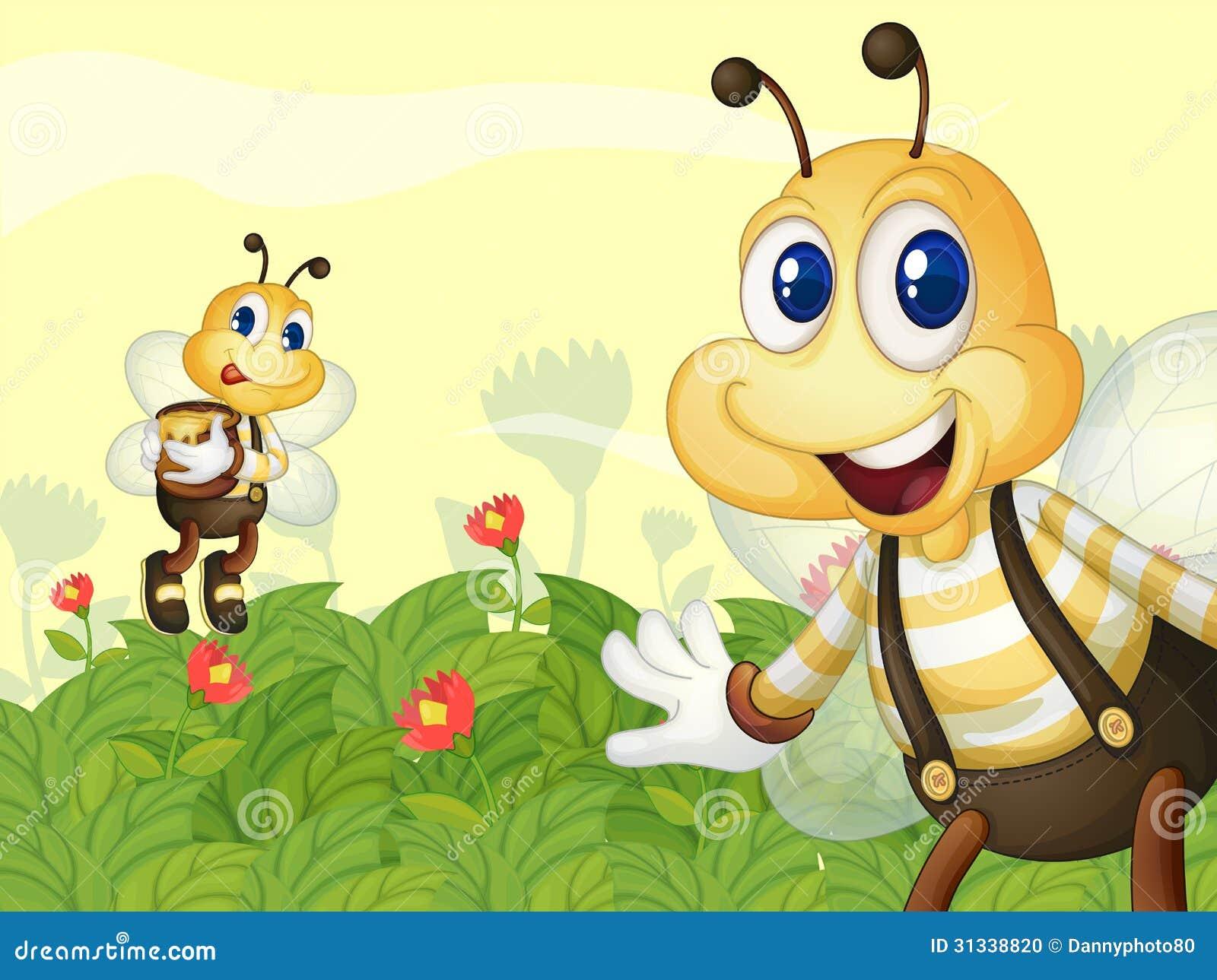 Abejas en el jard n foto de archivo imagen 31338820 for Ahuyentar abejas jardin