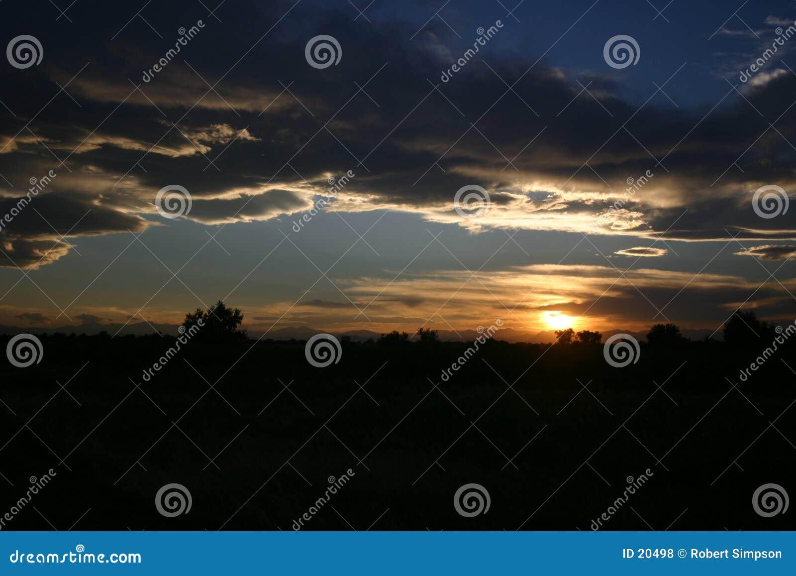 Abend-Glühen