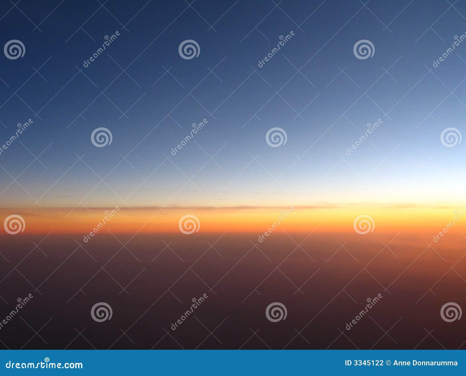 Abend-Horizont