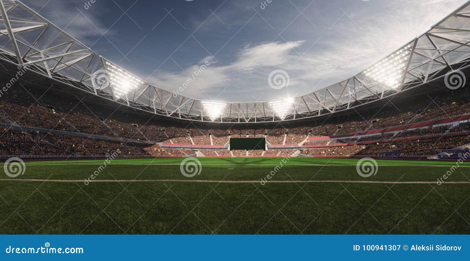 Abendstadions-Arenafußballplatz