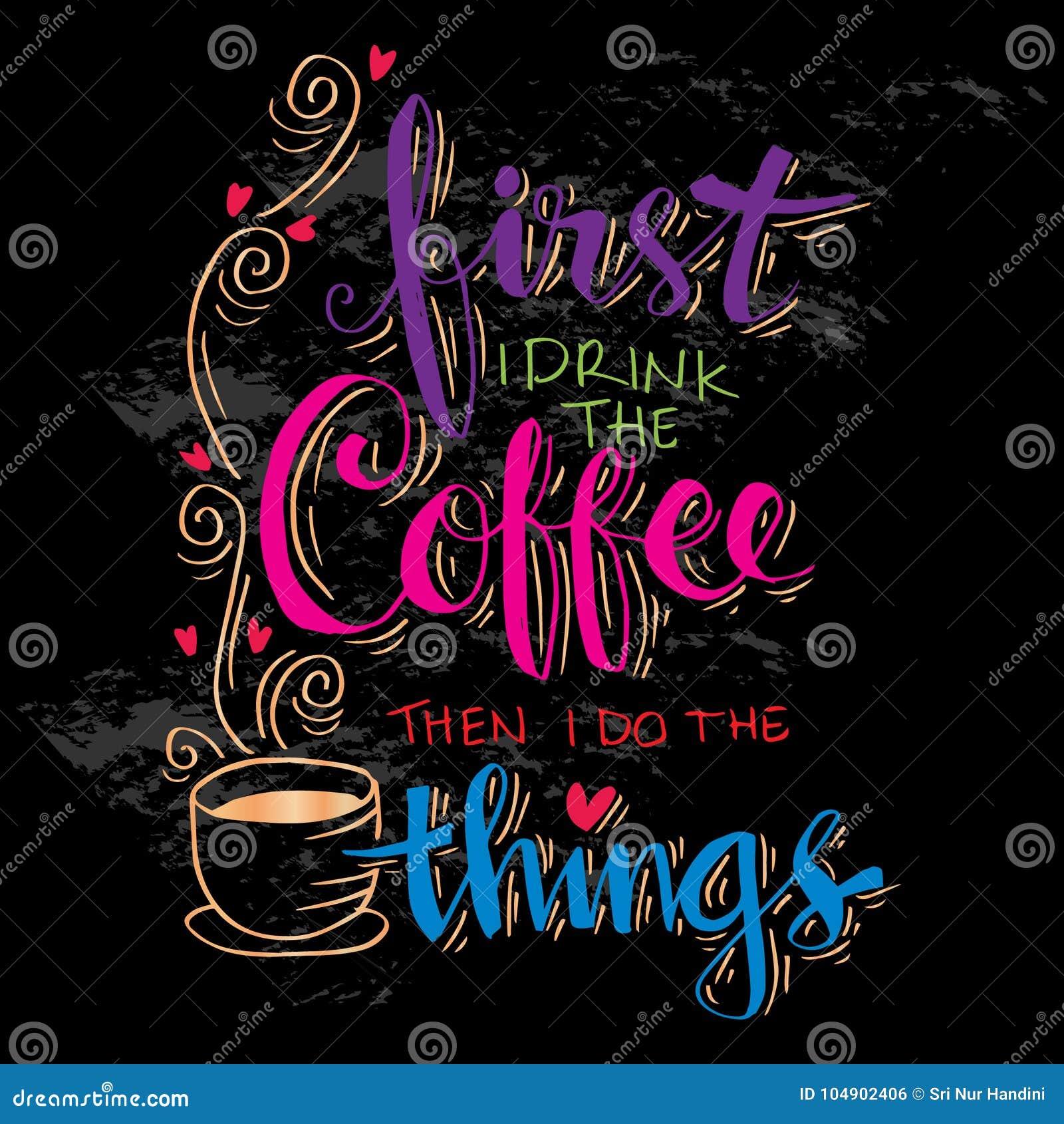 Aber erster Kaffee