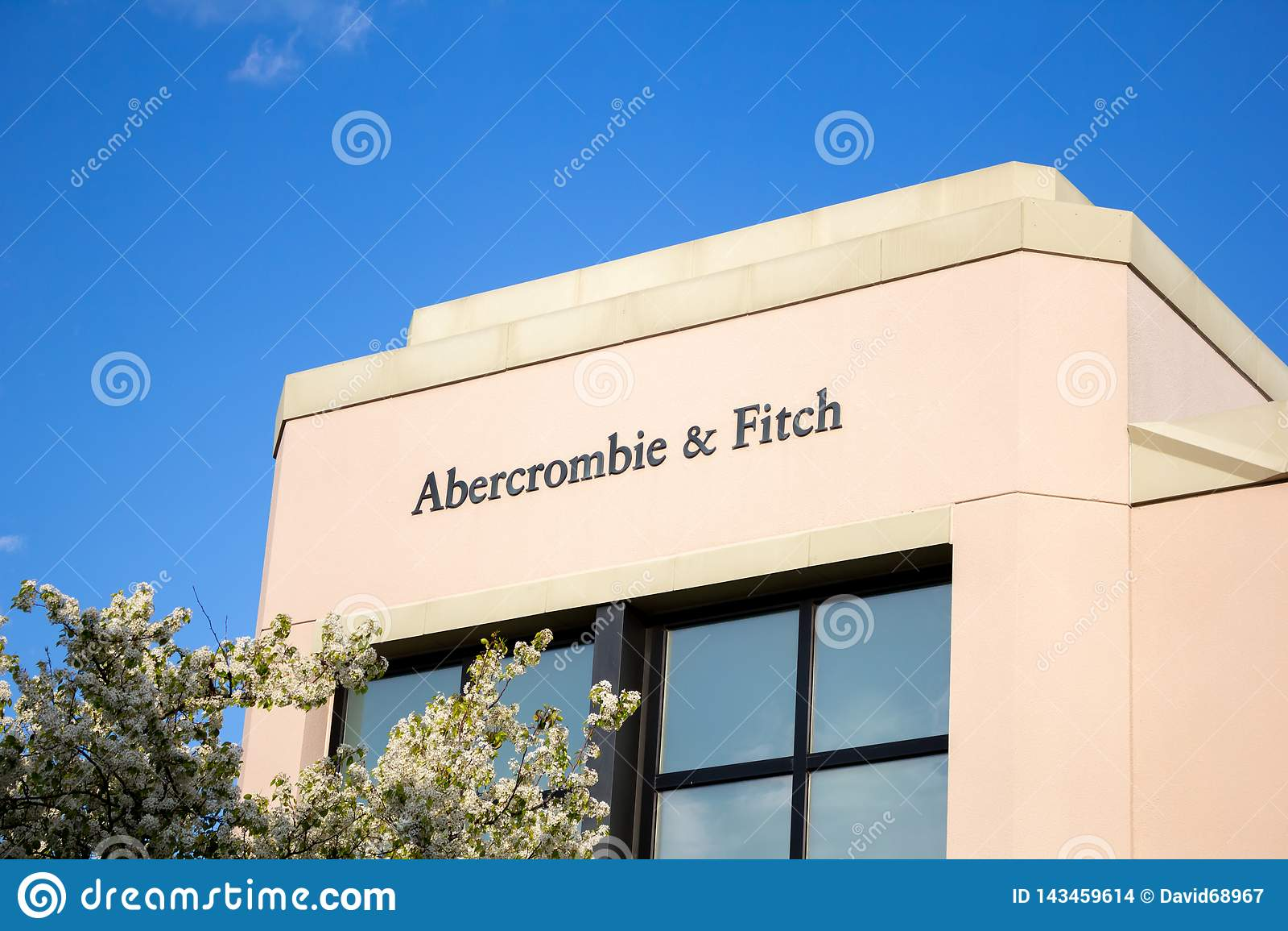 Abercrombie och Fitch lagertecken
