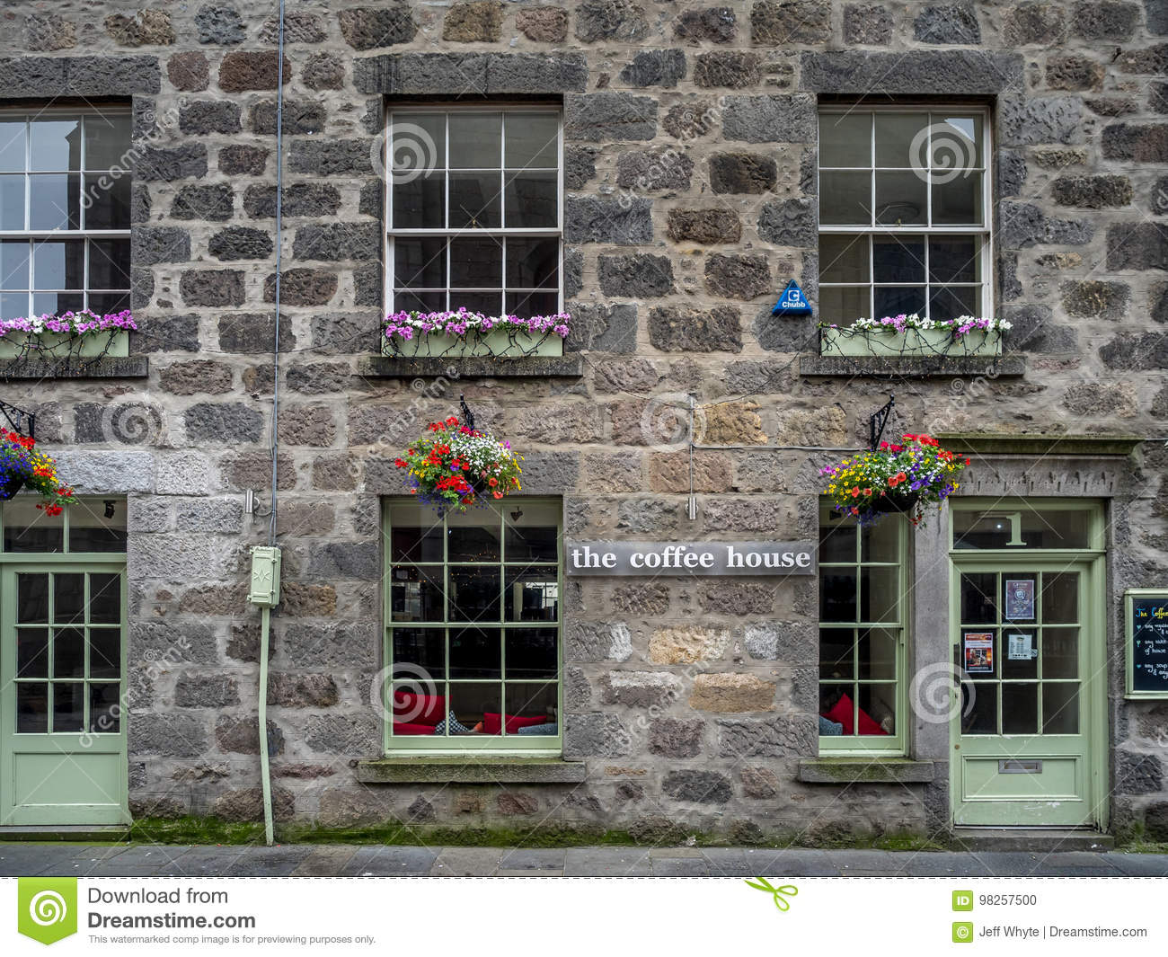 The Coffee House Aberdeen Editorial Image Image Of Street