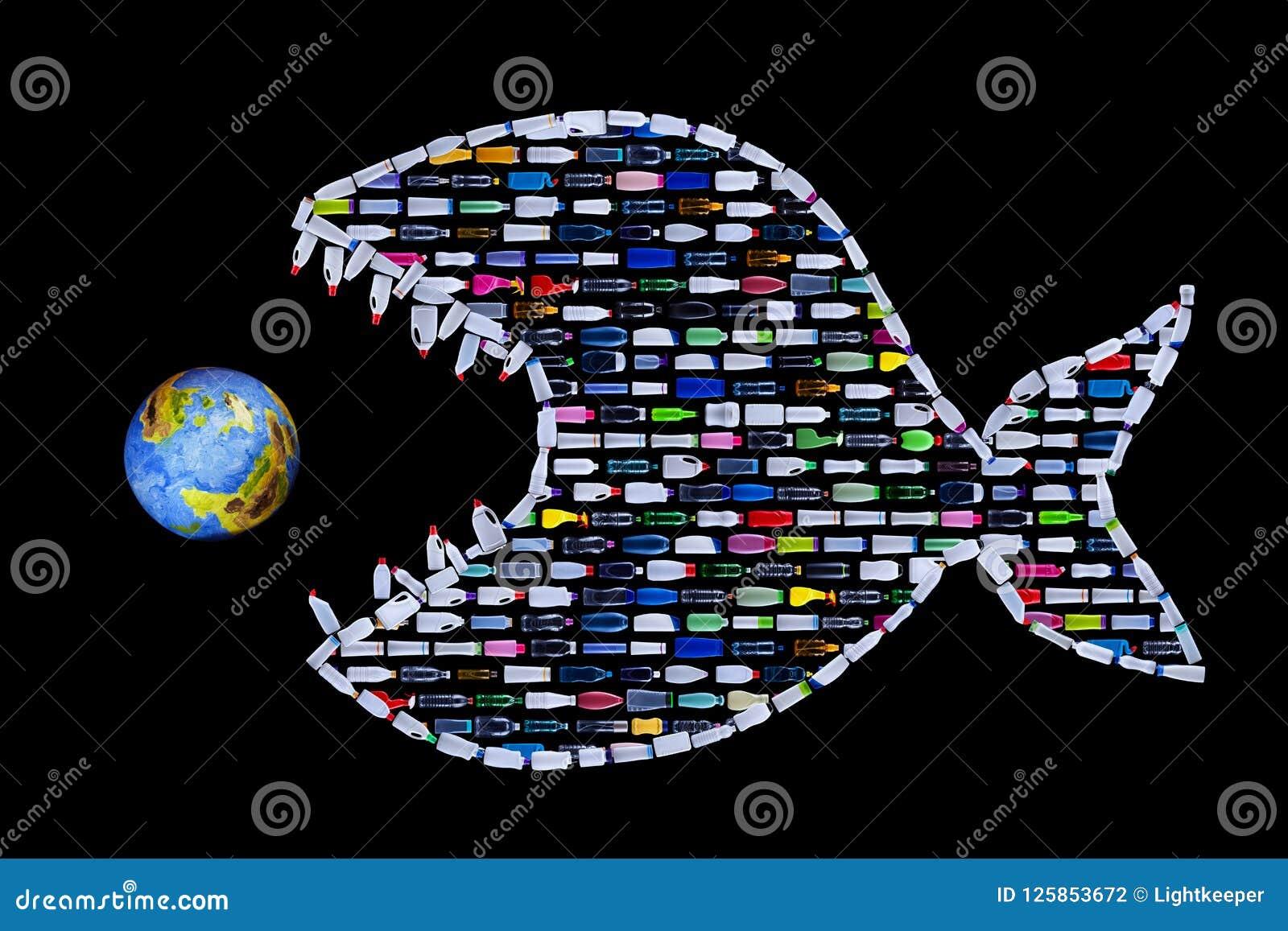 Abfall, der unsere Weltozeane und -erde zerstört