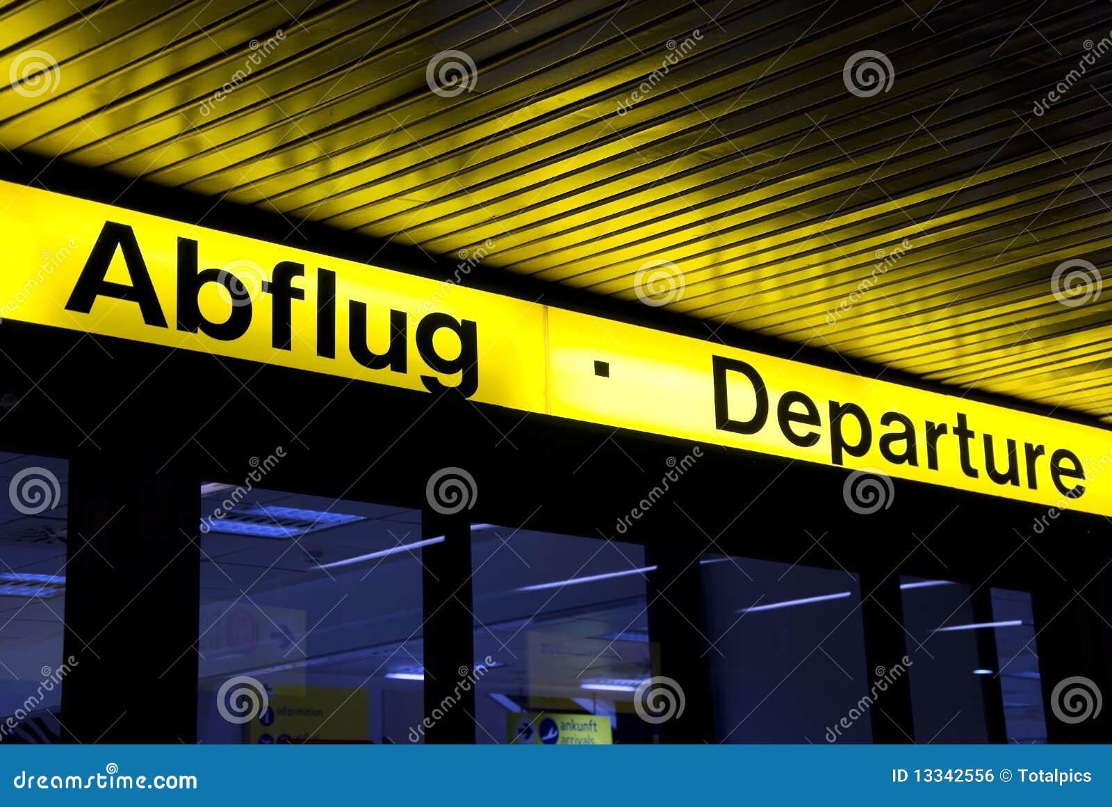 Abflug odjazdy