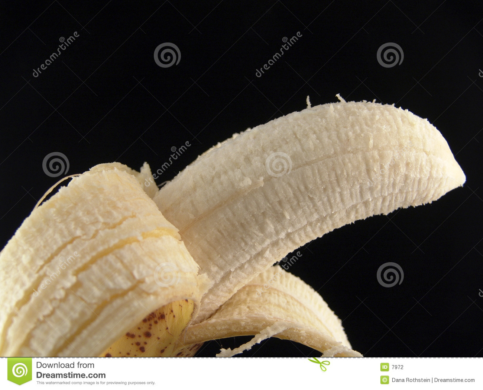 Abgezogene Banane