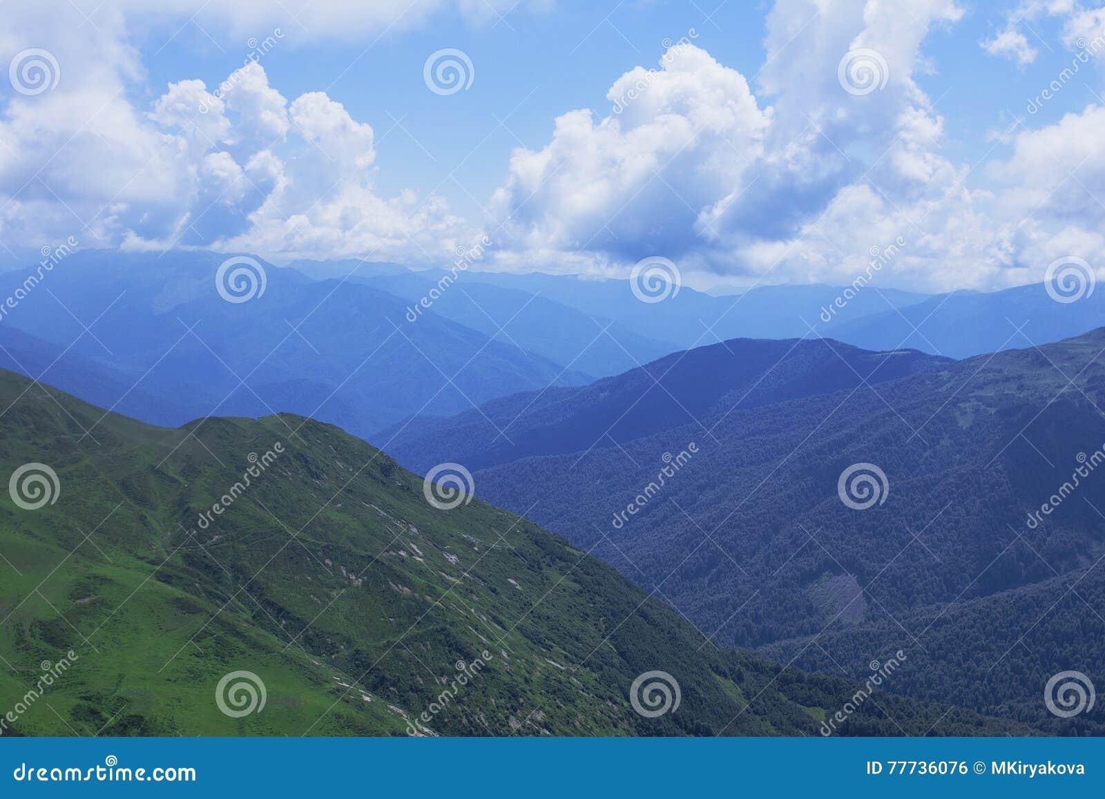 Abkhazia duże krajobrazowe halne góry