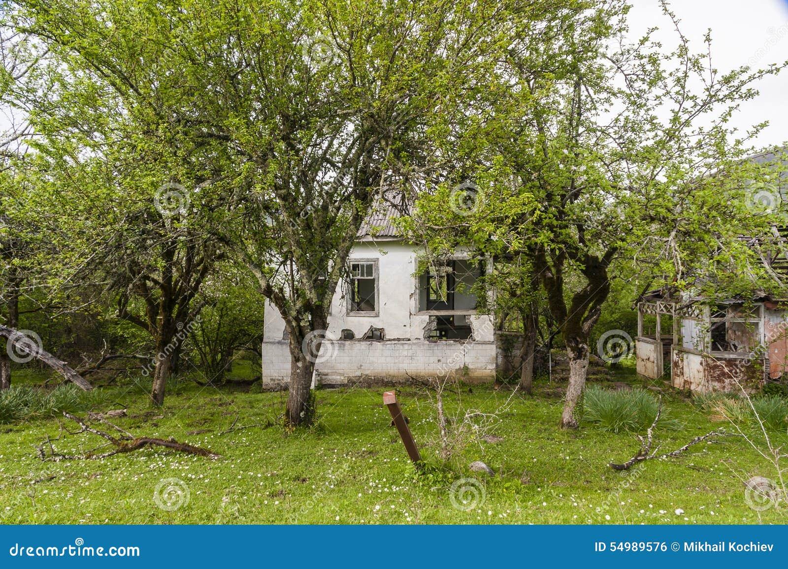 Abkhazia förstörde huset