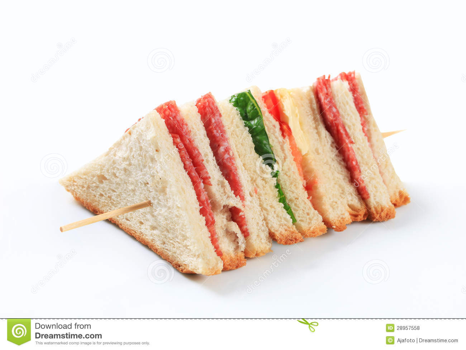 Ablegrująca salami kanapka