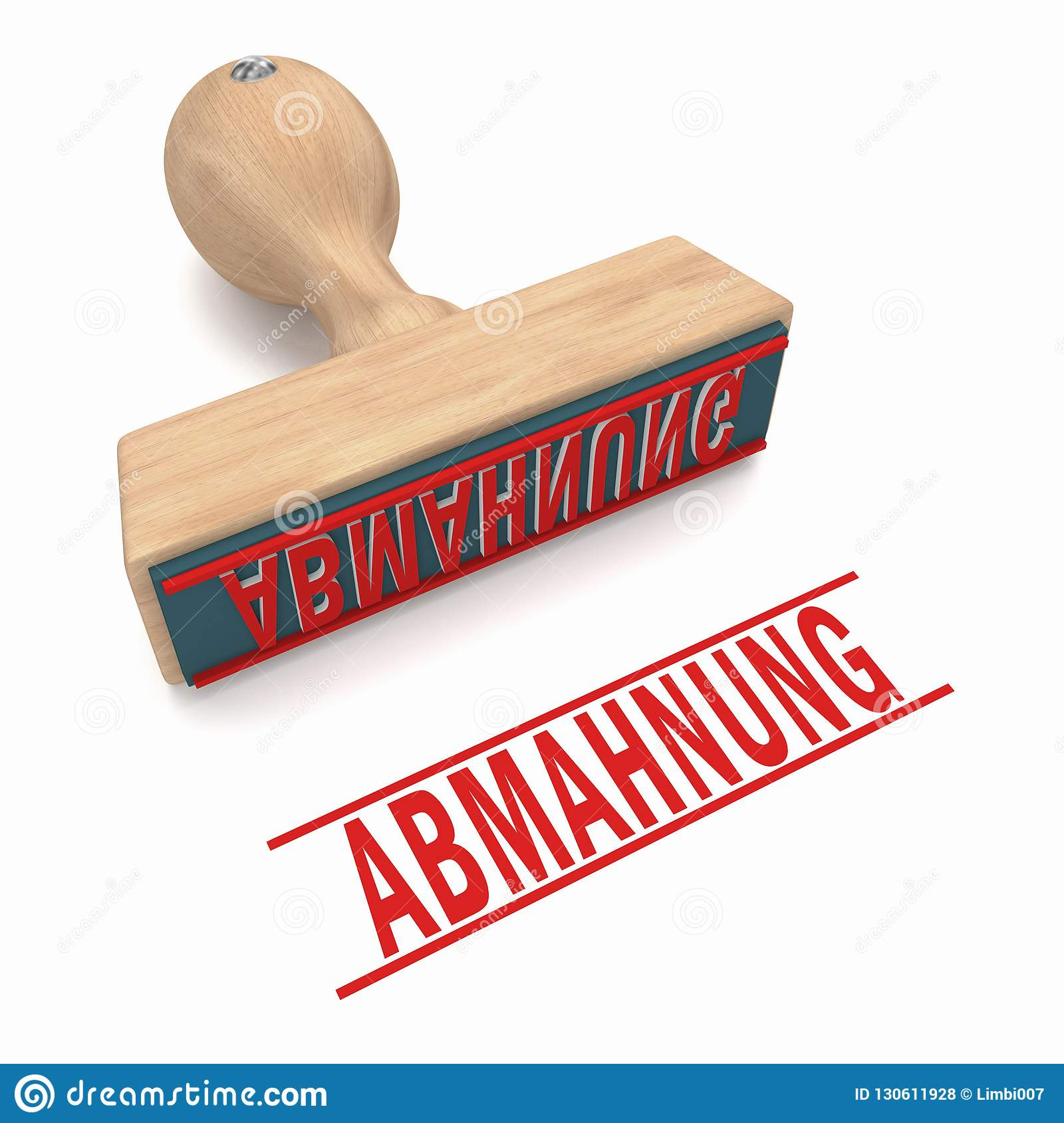 Abmahnung Stamp Stock Illustration Illustration Of