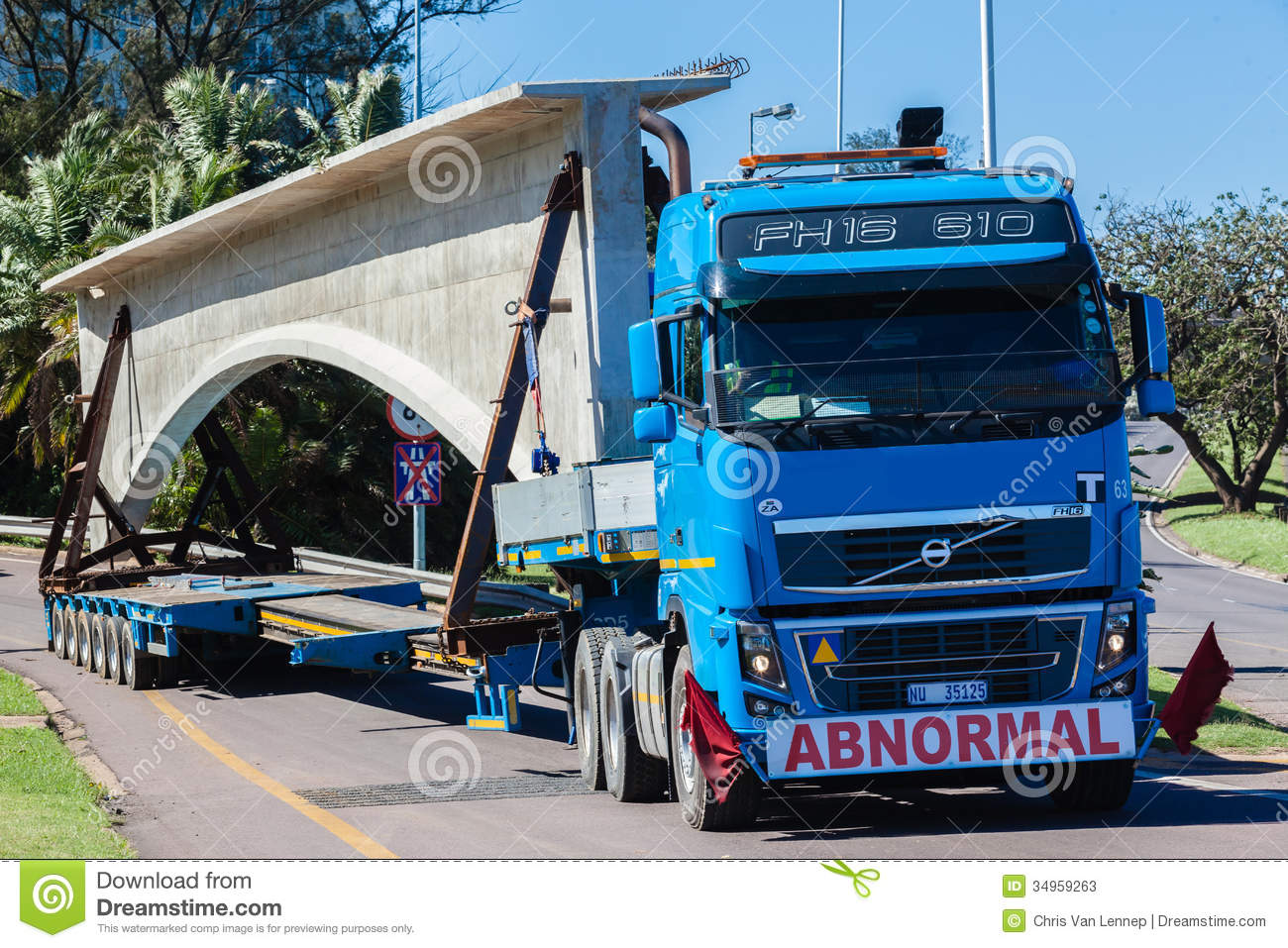 Abnormal Truck Trailer Heavy Load Editorial Stock Photo