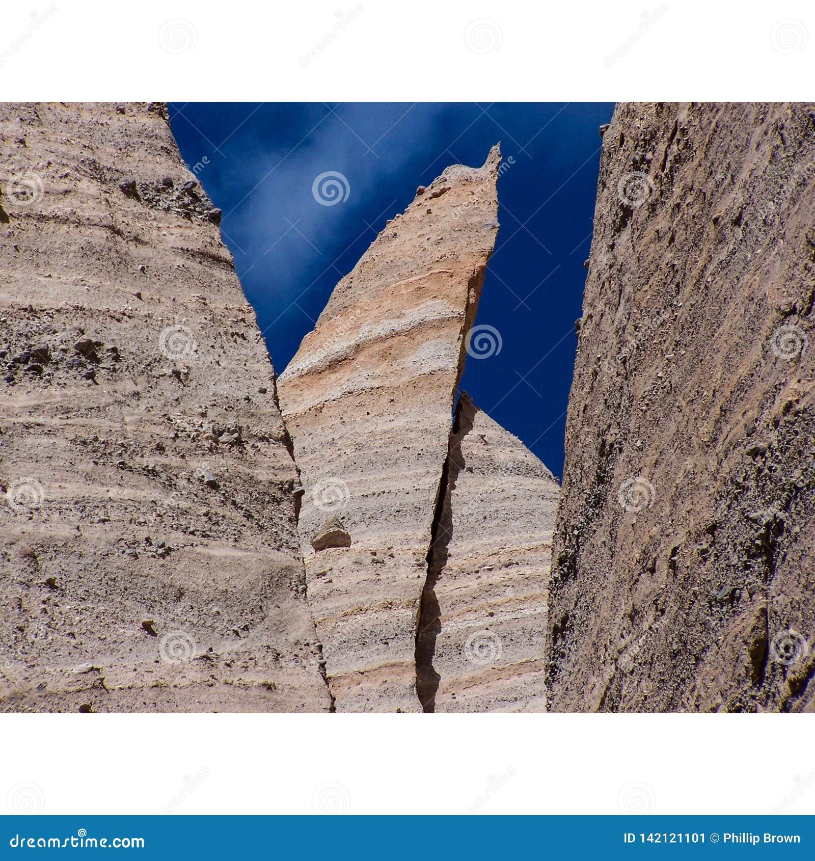 Abnutzungs-Unglücksbote-New Mexiko-Wüsten-Schichten